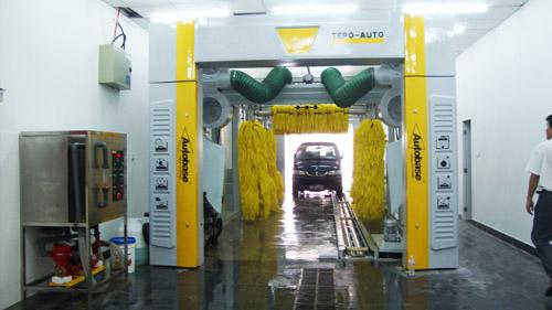 Full Air Drying Tunnel Car Washing Machine Brushed With Wipe System